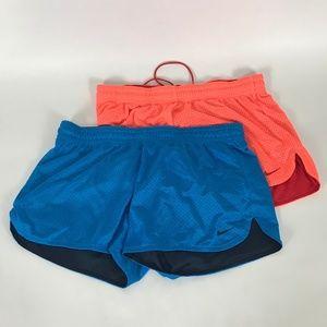 Womens Nike Running Shorts 2 Pair Size M Athletic